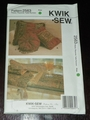 Kwik Sew New Uncut Pattern # 2563 Pillows, Placemat, Table Runners