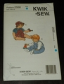 Kwik Sew New Uncut Pattern # 2568 Baby's Sizes S-XL Overalls T-Shirts & Hat SOLD