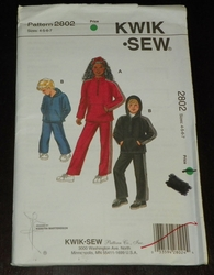Kwik Sew New Uncut Pattern # 2802 Boys & Girls Sizes 4-7 Shirts, Hoodie & Pants SOLD