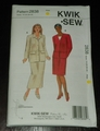 Kwik Sew New Uncut Pattern # 2838 Women's Plus Sizes 1X-4X Jackets & Skirts