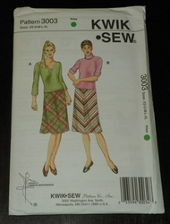 Kwik Sew New Uncut Pattern # 3003 Misses Sizes XS-XL Skirts & Tops SOLD