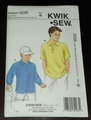 Kwik Sew New Uncut Pattern # 3226 Boys Sizes XS (4-5)-XL (12-14 ) Shirts