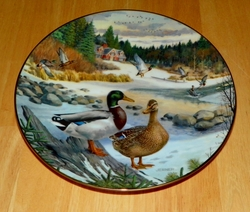 1986 Collector Plate The Mallard 2nd Issue Jerner's Ducks Living With Nature