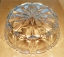 Lovely Cut Glass Open Candy Dish or Tinket Dish 6 inches dia & 2 inches Deep