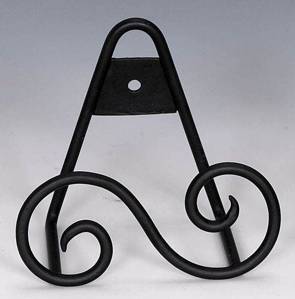 Mini Wrought Iron - Standing or Hanging Plate Stands S Design Out of ...