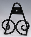 Mini Wrought Iron - Standing or Hanging Plate Stands Twin Scroll Out of Stock