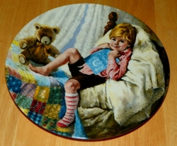 1984 Collector Plate Diddle Diddle Dumpling 6th issue Mother Goose Series