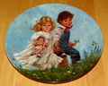1986 Collector Plate Jack & Jill 8th issue Mother Goose Series