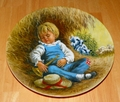1980 Collector Plate Little Boy Blue 2nd issue Mother Goose Series