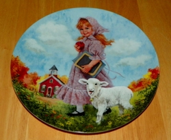1985 Collector Plate Mary Had A Little Lamb 7th issue Mother Goose Series Out of Stock