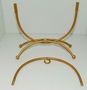 Oval Shaped Gold Wrought Iron Ornament Stand