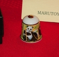 Panda Marutoyo Porcelain Japan Thimble Collectors Club