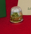 Rustic Castle Longton Hall Porcelain England Thimble Collectors Club