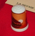 Ships At Sunset La Seynie Porcelain France Limoges Thimble Collectors Club