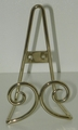 Silver Easel - Standing or Hanging Plate Stands Twin Scroll