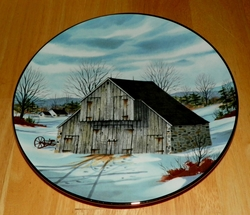 Collector Plate Forebay Barn The Vanishing American Barn Collection 1983
