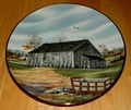 Collector Plate Southern Tobacco Barn Vanishing American Barn Collection 1983