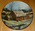 Collector Plate Thatched Barn from The Vanishing American Barn Collection 1983
