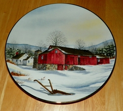 Collector Plate Connected Barn From The Vanishing American Barn Collection 1983 SOLD