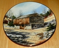 Collector Plate Log Barn The Vanishing American Barn Collection 1983