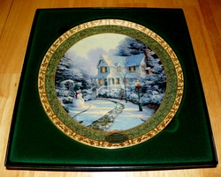 Thomas Kinkade Annual Collector Plate 2006 The Night Before Christmas 8th Issue
