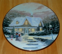Thomas Kinkade Collector Plate Home for the Holidays Titled Home to Grandma's