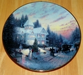 Thomas Kinkade Collector Plate Yuletide Memories Titled Magic of Christmas