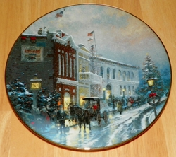 Thomas Kinkade Collector Plate Yuletide Memories Titled The Wonder of the Season Out of Stock