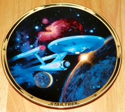 U.S.S. Enterprise NCC-1701 Star Trek Collector Plate from the Star Trek 25th Anniversary Commemorative Collection