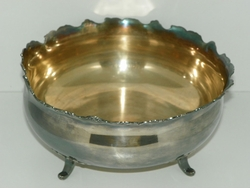 Van Bergh Silverplate Co. Quadruple Silver Plated Footed Bowl #0262