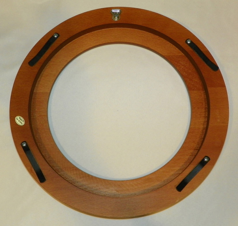 Walnut Finish Wood Plate Frame 7 1/2 to 8 1/4 in plate No Gold
