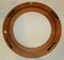 Walnut Finish Wood Plate Frame 7 1/2 to 8 1/4 in plate No Gold Out of Stock