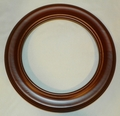 Walnut Finish Wood Plate Frame 8 1/4 to 9 1/4 inch plate No Gold Out of Stock