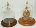 Watch or Small Ornament Dome With Top Hook Walnut Base 3 X 4 1/4 Out of Stock