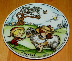 West Germany 2 Monthly Collector Plate Dekor-Shop Walter The Good Idea - April 1966 Out of Stock