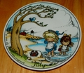West Germany 2 Monthly Collector Plate Dekor-Shop Walter The Good Idea - July 1966