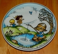 West Germany 2 Monthly Collector Plate Dekor-Shop Walter The Good Idea - March 1966