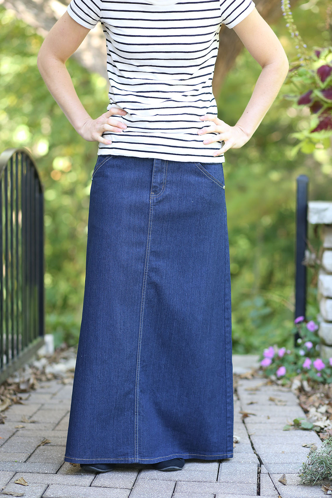 Plus Size Timeless Class Modest Long Denim Skirt | Modest ... |Western Long Denim Skirts Modest