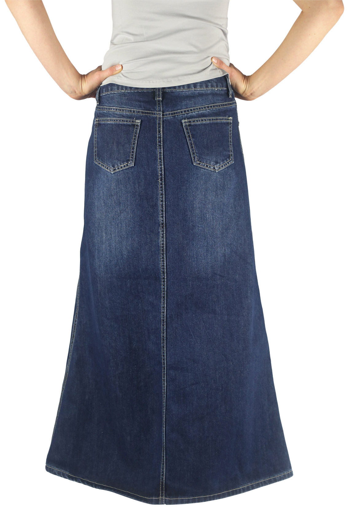 Western denim skirts long | Roupas, Saia jeans longa, Saias |Western Long Denim Skirts Modest