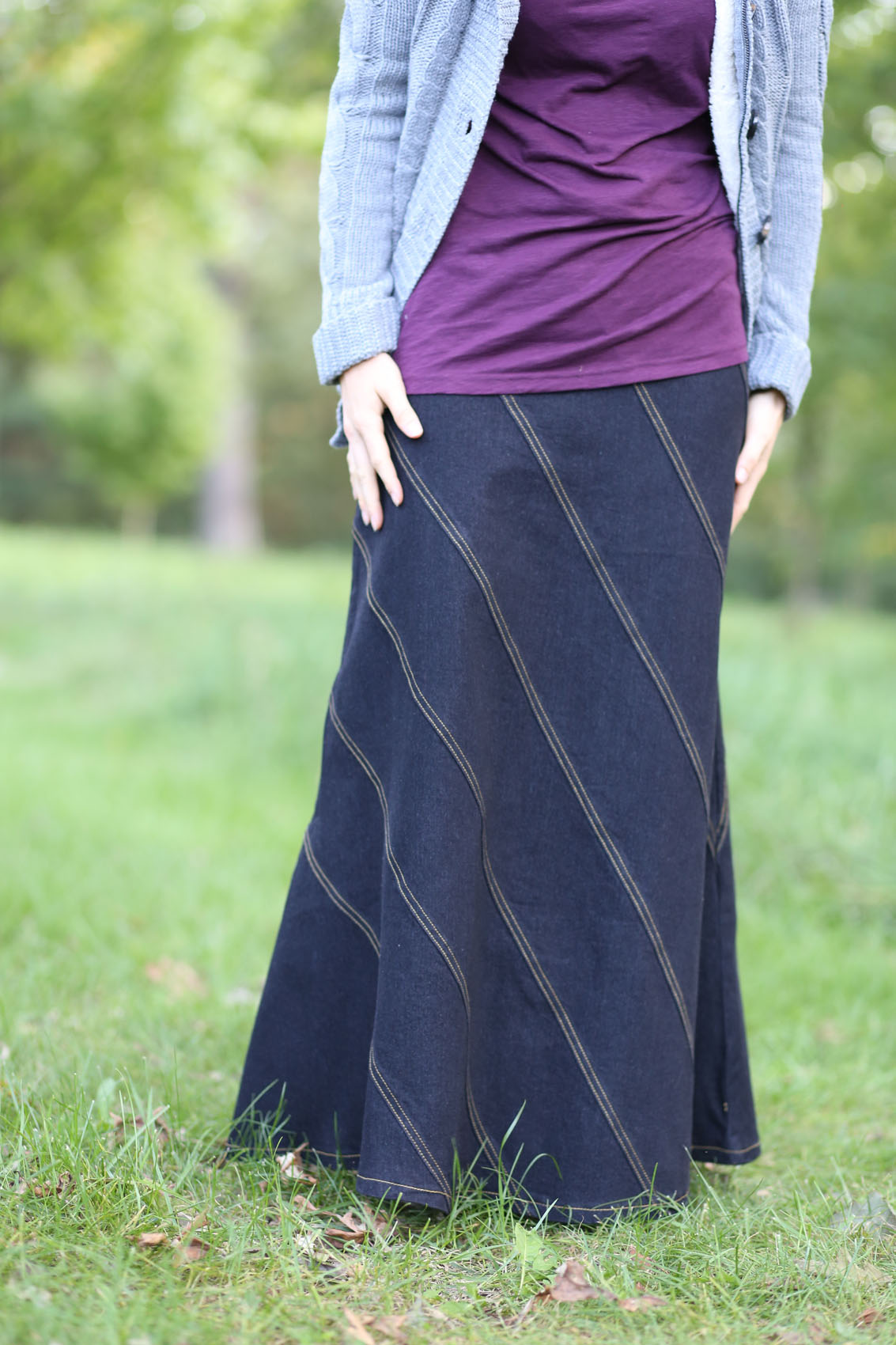 GAP Jeans Long Blue Denim MAXI Skirt Modest Hippie BOHO ... |Western Long Denim Skirts Modest