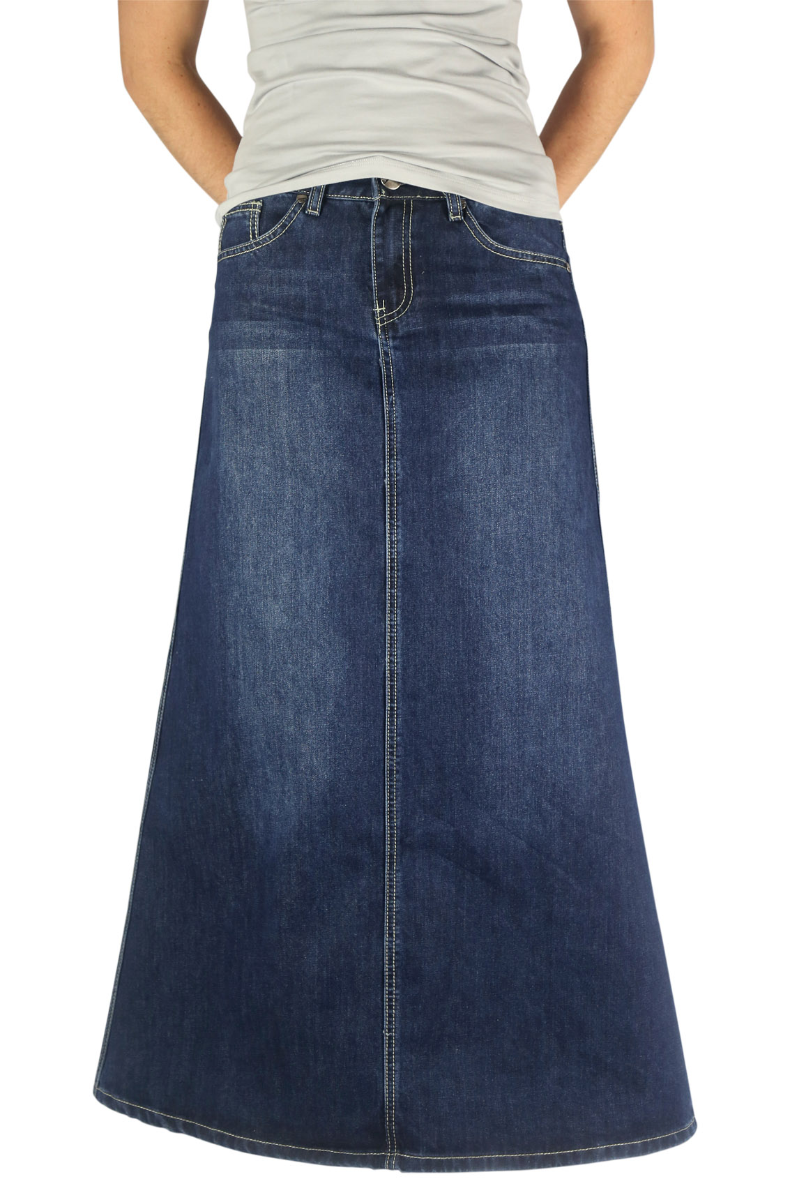 16 best Long denim skirts to wear with boots images on ... |Western Long Denim Skirts Modest