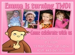 Custom Photo Birthday Invitations Curious George 3