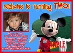 Custom Photo Birthday Invitations Mickey Clubhouse #1