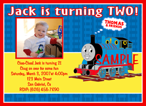 photo thomas the train birthday invitations, Birthday invitations