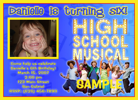 Free High School Musical Party Invitations To Print Dulahotw