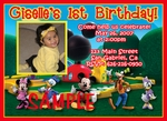 Custom Photo Birthday Party Invitations Mickey Clubhouse 2