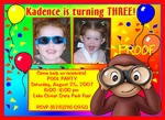 Custom Photo Invitations Curious George #9