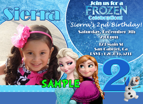 Disney Frozen Birthday Party Invitations Supplies Personalized