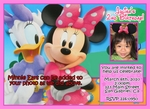 Minnie Mouse Mickey Mouse Photo Birthday Invitations #6