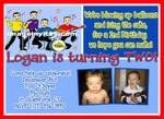 Photo Birthday Invitation Wiggles